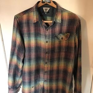 VISSLA men's flannel gently used